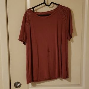 American Eagle SOFT & SEXY Lace Detail Tee